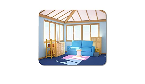 Mouse Pads Architecture Apartment Marine House Blue Interior ...