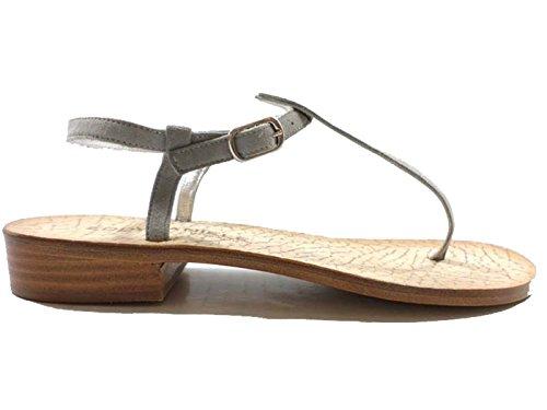 Zapatos Mujer Eddy Daniele 41 EU Sandalias Gris Gamuza AW110 ybr0mRYH