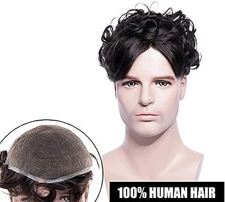 Elailite® Prótesis Capilar Hombre Indetectable Pelo Natural ...