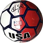 Hope Solo signed Olympic Team USA Full Size Soccer Ball Red/White/Blue w/ #1.
