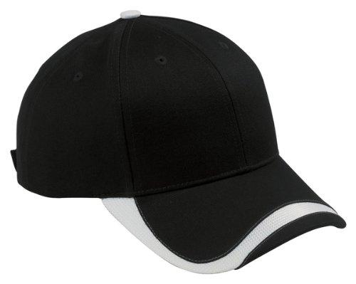 Big Accessories Bagedge (Big Accessories BAGedge Sport Velcro Baseball Cap, Black/White, One Size)