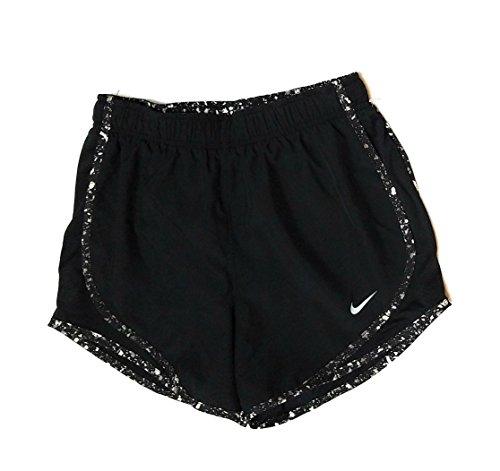 Nike Femmes Tempo Sec Court Noir / Noir / Loup Gris / Loup Gris