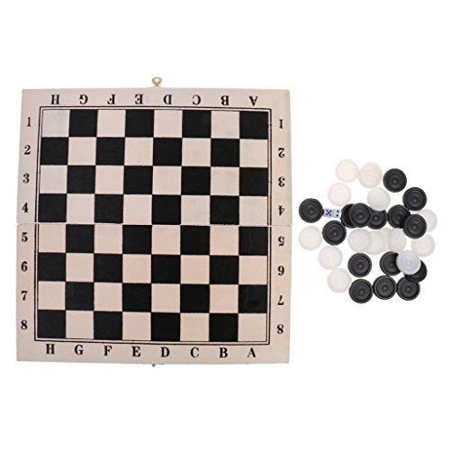 Baoblaze 正方形 木製 西洋碁 国際チェッカー 折りたたみ 軽量 ボードゲーム ドラフツ  約29x 29cm 64フィールド ギフト