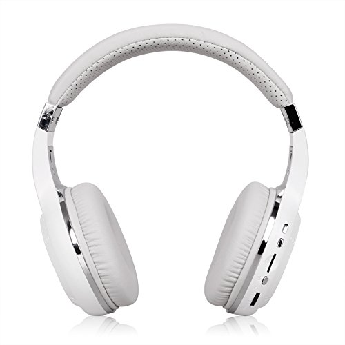 Price comparison product image Bluedio H Plus (Turbine) Wireless Bluetooth Headphones V4.1 Bass Stereo Over-ear Headset with Mic FM Radio Support SD Card for iPhone Samsung (White)