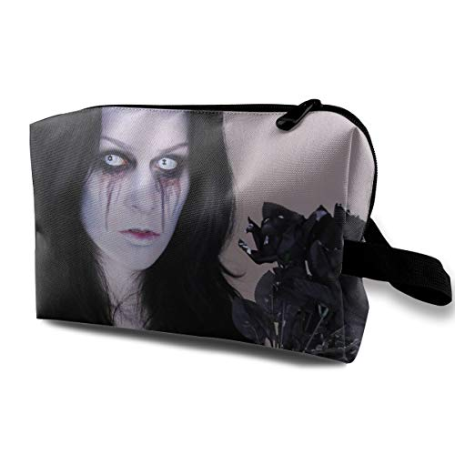 Halloween Zombie Bride Corpse Multi-function Travel Makeup Toiletry Coin Bag Case -