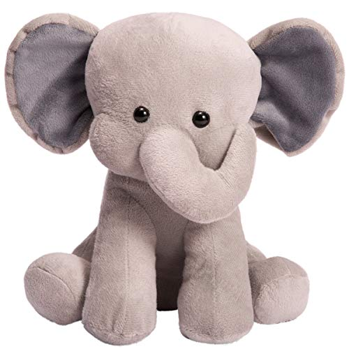 Plush Soft Adorable (HollyHOME Stuffed Elephant Animal Plush Soft Toy Adorable Gifts for Kids 10 Inches Grey)
