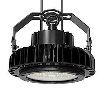 Image of Adiding LED High Bay Light, UFO High Bay LIFUD Driver Dimmable 5000K, Samsung SMD 3030 LED for Garage Workshop Warehouse,ETL DLC Listed,IP65 (100w-13,000lm-dimmable-black)