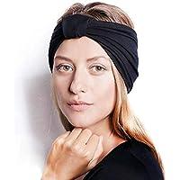BS-26 3 Pack Sports Headband/Sweat Band Hairband para Hombres Mujeres Correr, Baloncesto, fútbol, Tenis, Ciclismo, Cardio, Ejercicio de Gimnasio, Entrenamiento