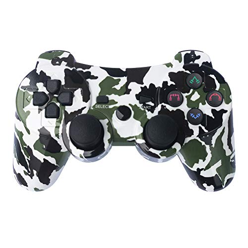 ess Gamepad 6 Axis Dualshock 3 Game Remote Control Joystick for PlayStation 3 with Charging Cable (Army Green Camo) ()