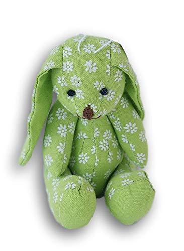 (Miniature Bunny Stuffed Animal - 5.5 Inches Tall (Green)