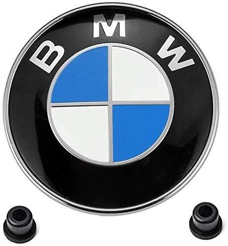 Emblema BM 74mm azul y negro Emblema maletero capo