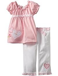 Little Girls' 2 Piece Heart Capri Set