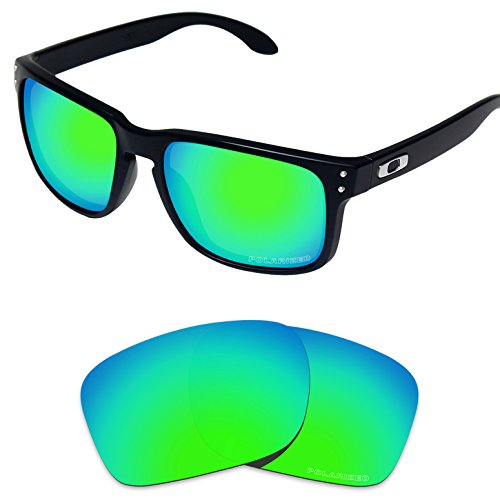 Tintart Performance Lenses Compatible with Oakley Holbrook Polarized Etched-Emerald Green