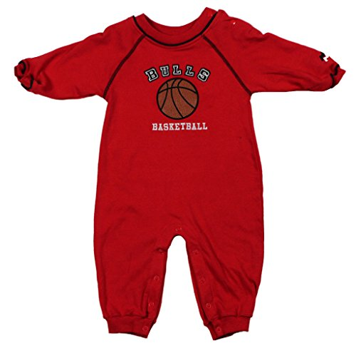 Chicago Bulls NBA Baby Boys Infant Embroidered Basketball Coverall, Red 24M