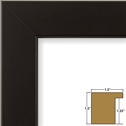 Craig Frames 59405 24 by 36-Inch Picture Frame, Smooth Wrap Finish, 1.5-Inch Wide, Tall Profile, Black