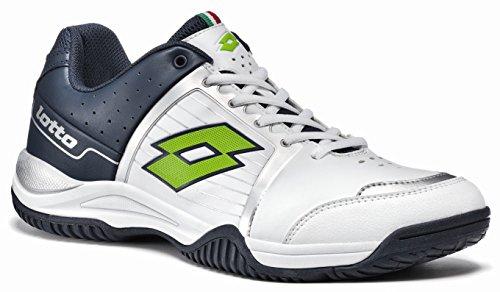Lotto–T-TOUR IV 600–Zapatillas Tenis Hombre–blanco/azul/verde–r2508