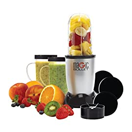 Magic Bullet (Silver) Blender/Mixer, 11-piece Set (Renewed) 26 This Certified Refurbished product is tested & certified by Magic Bullet to look and work like-new. The product includes all original accessories, and is backed by a 90 day warranty. Hi-speed blender and mixer system Blends, mixes, chops, whips and grinds