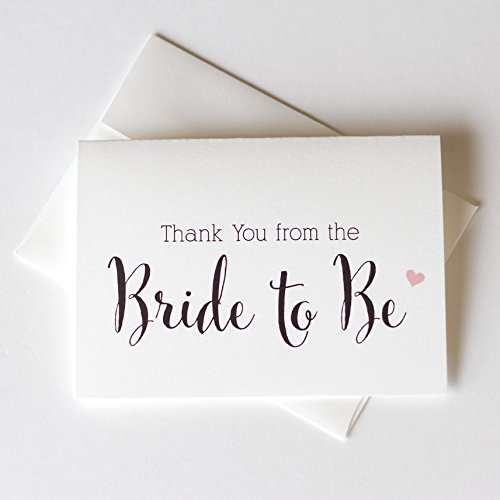 (12 - Thank You from the Bride To Be, Thank You from the Future Mrs, Bridal Shower Thank You Cards (TYCN))