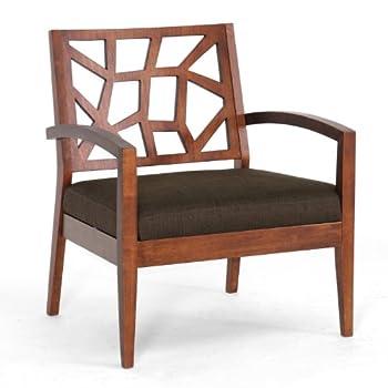 Baxton Studio Jennifer Modern Lounge Chair with Dark Brown Fabric Seat