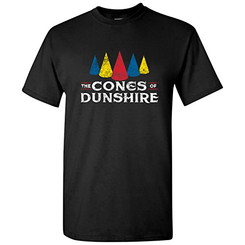 ones Of Dunshire - Funny Parks Rec Ben Board Game Parody T Shirt - Small - Black ()