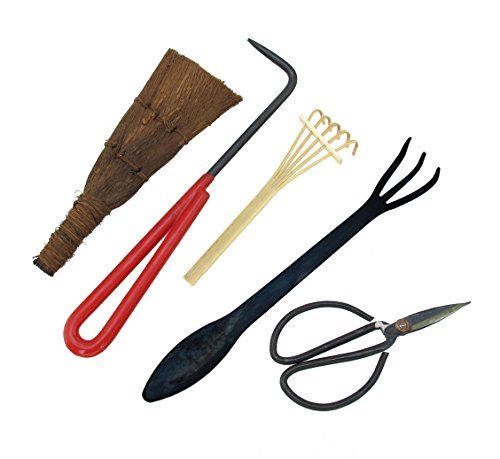 (BambooMN Bonsai Tool Kit 5pc Basic Care Set)