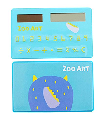 Fashionable Solar Calculator Cute Portable Calculator, Blue by DRAGON SONIC