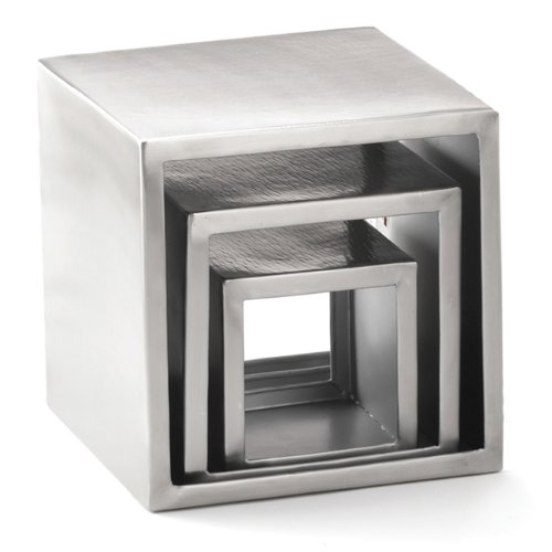 Stainless Steel Riser Set - Tablecraft Riser Set, Square