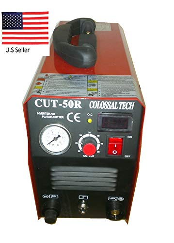 Plasma Cutter CUT50R New 50AMPS 220V 1/2 Inch Cut Inverter Cutting Machine and comes with 40 Free Consumables Single Voltage Plasma Cutter