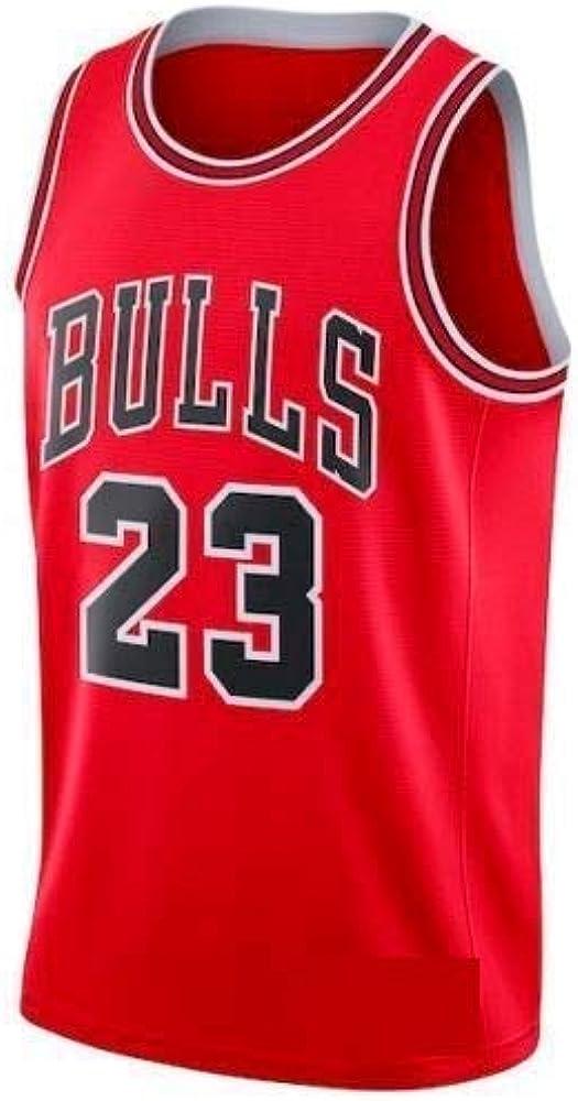 A-lee Men s Jersey toros Vintage campeón de la NBA, Michael Jordan Jersey Chicago Bulls 23 El Jugador # Malla Jersey de Baloncesto (Red, XXL): Amazon.es: Ropa y accesorios