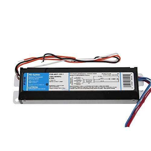 Lutron Hi-Lume Electronic Fluorescent Dimming Ballast Fdb-4827-120-1 120V 50-60Hz .30A Rapid Start - 120v Electronic Dimming Ballast