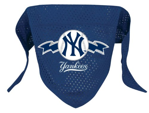 Hunter MFG New York Yankees MLB Mesh Bandana for Dogs, Large - New York Yankees Dog Bandana