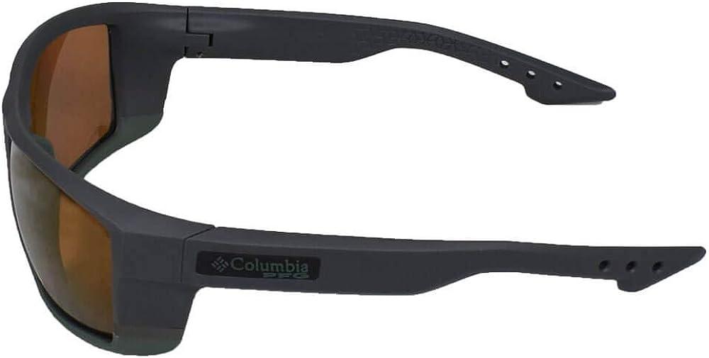 New Columbia Polarized Sunglasses C509SP 003 Baitcaster Matte Black Grey PFG