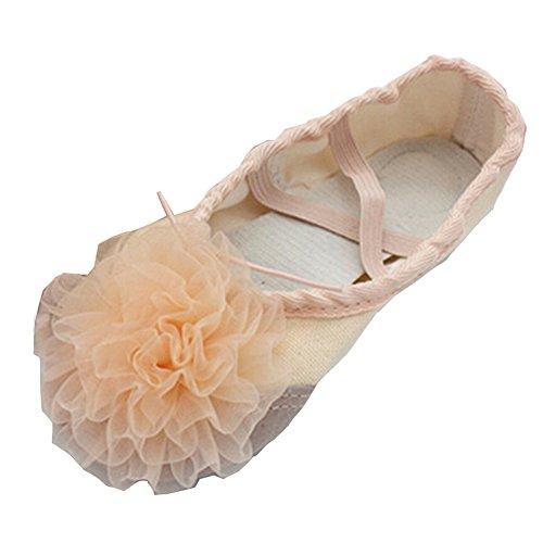 lisianthus002Little Kid Ballett Blume Schuhe Split Sole Hautfarben