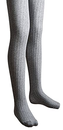 Sportoli Girls Ribbed Cotton Hold and Stretch Footed Winter Tights