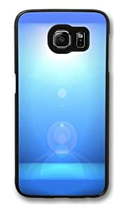 Blue Light Effect PC Case Cover for Samsung S6 and Samsung Galaxy S6 Black