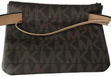 Michael Kors MK Signature Belt Wallet Fanny Pack Travel Leather Small: Amazon.es: Equipaje