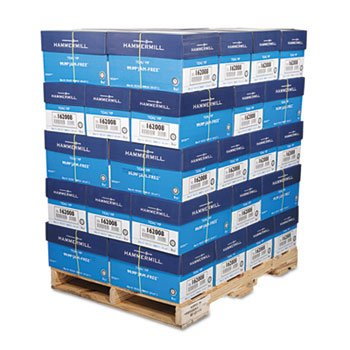 HAM162008PLT - Hammermill Paper Tidal Multipurpose 20lb. 92 Bright 8.5 x 11, 5,000 Sheets/Carton, 40 Cartons-Pallet Pricing. Made in the USA