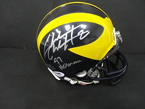 Charles Woodson Autographed Signed Memorabilia Michigan Mini Helmet Autograph Auto - PSA/DNA Authentic