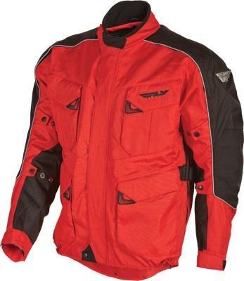 Fly Racing Terra Trek 3 Jacket , Gender: Mens/Unisex, Primary Color: Red, Size: Sm, Distinct Name: Red/Black, Apparel Material: Textile 477-2061-1