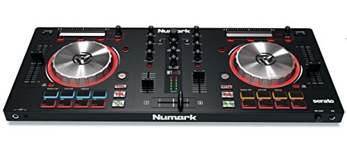 Controller Turntable Software (Numark Mixtrack Pro 3 | USB DJ Controller with Trigger Pads & Serato DJ Lite Download (Includes Built-In Sound Card))
