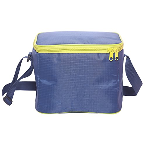 LEAFOREST Small Cooler Lunch Bag Insulated Picnic Cooler Tote with Shoulder Strap for Picnics Party 6-Cans