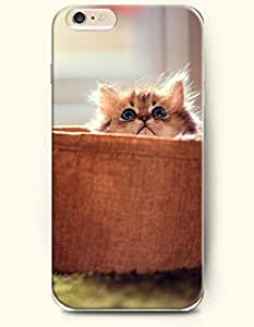 OOFIT iPhone 6 Plus Case 5.5 Inches with the Design of Cat with Blue Round Eye by icecream design