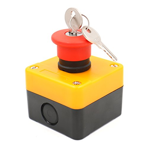Baomain 660v Red Sign Emergency Stop Push Button Switch & Key