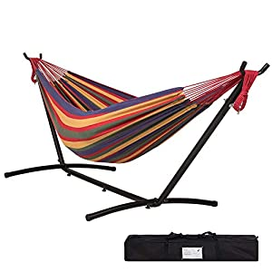 Lazy Daze Hammocks Double Hammock with 9 ft Steel Hammock Stand