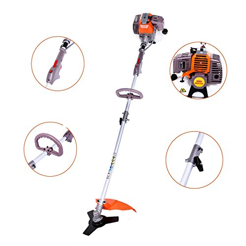 Best Review Of shaofu Brush Cutter, 17-Inch Straight Shaft Gas Powered String Trimmer 2-cycle 43cc W...