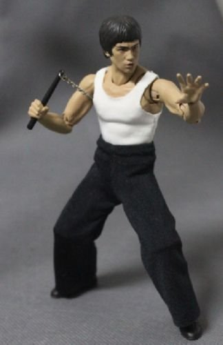 FIGLot 1/12 scale fabric tank top and black pants set for SH Figuarts Bruce Lee (Figure NOT included) ()
