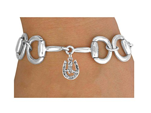 Bit-link Bracelet & Horseshoe And Boot Charm by Lonestar Jewelry