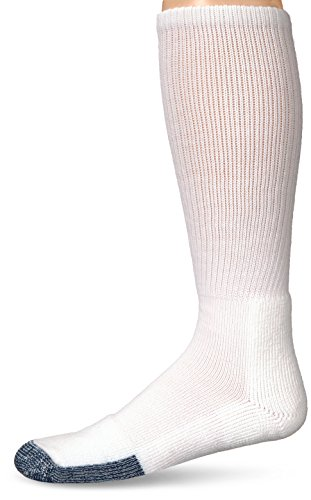 (Thorlos Unisex B Basketball Thick Padded Over the Calf Sock, White, Large)