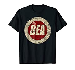 Vintage style t-shirt with graphics for defunct BEA- British European Airways. Great gift for pilots, aviation enthusiasts, commercial aircrew, airliner pilot's, vintage travel fans, frequent fliers, UK and British airline fans, student pilot...