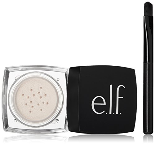 e.l.f. High Definition Undereye Concealer Setting Loose Powder for Your Face, Sheer, Brush Included .04 Ounces